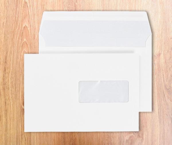 Enveloppes Autocollantes C5-162X229 Blanc 80g Fenêtre 45X100