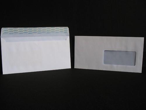 Enveloppes auto-adhésives DL-110X220 Blanc 90g Fenêtre 45X100