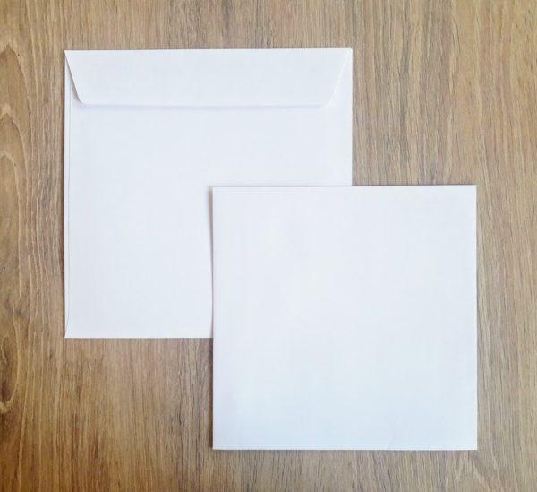 Enveloppes carrées Auto-adhésives 145X145 Blanc 120g