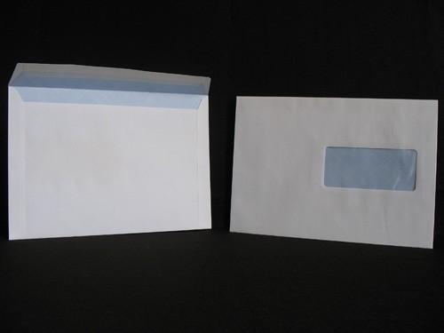 Enveloppes auto-adhésives C5-162X229 Blanc 90g Fenêtre 45X100