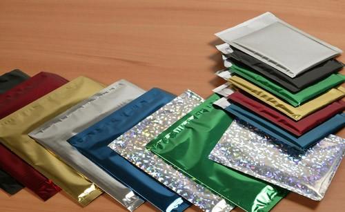 Pochettes C4-229X324 Aluminium métallisé Argent holographique